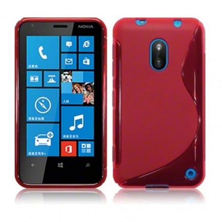 Coque rouge translucide pour Nokia Lumia 620