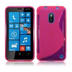 Coque rose translucide pour Nokia Lumia 620