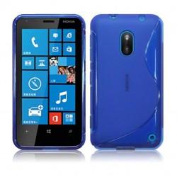Coque bleu translucide pour Nokia Lumia 620