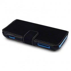 Etui noir folio simili cuir pour Nokia Lumia 620