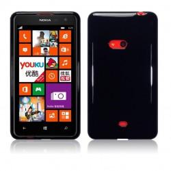 Coque noir piano pour Nokia Lumia 625