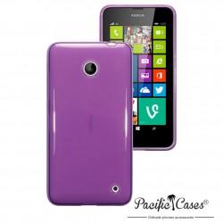 Coque violet translucide pour Nokia Lumia 630