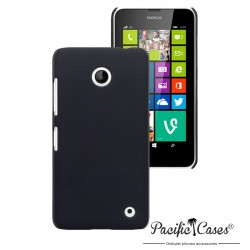 Coque noire touché gomme pour Nokia Lumia 630