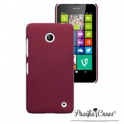Coque rouge touché gomme pour Nokia Lumia 630