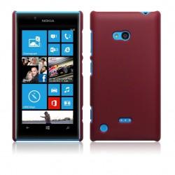 Coque rouge mat rigide touché gomme pour Nokia Lumia 720