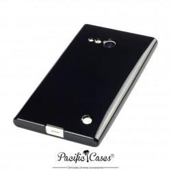Coque pour Nokia Lumia 735/ 730 gel noir brillant