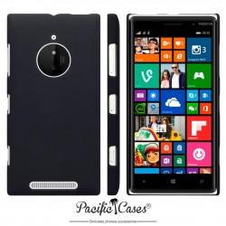 Coque pour Nokia Lumia 830 noire touché gomme