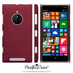 Coque pour Nokia Lumia 830 rouge foncé touché gomme
