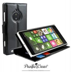 étui pour Nokia lumia 830 fonction stand noir marque Pacific Cases®