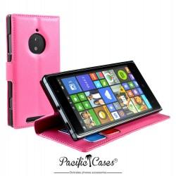 étui pour Nokia lumia 830 fonction stand fuchia marque Pacific Cases®