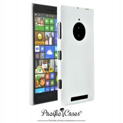 Coque pour Nokia Lumia 830 touché gomme marque Pacific Cases® - blanc