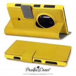 étui pour Nokia Lumia 1020 jaune folio avec fonction stand