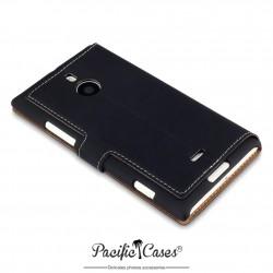 étui pour Nokia Lumia 1520 noir folio fonction stand