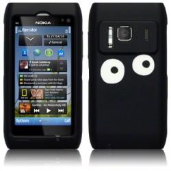 Coque silicone noir avec yeux blancs pour Nokia N8