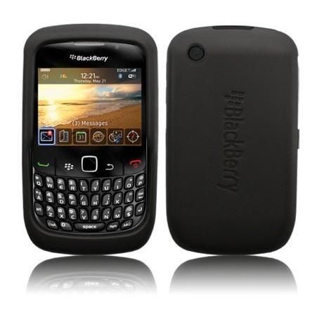 Coque silicone noire pour Blackberry 9300 Curve 3G
