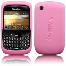 Coque silicone rose pour Blackberry 9300 Curve 3G