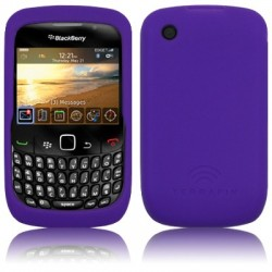 Coque silicone pourpre pour Blackberry 9300 Curve 3G