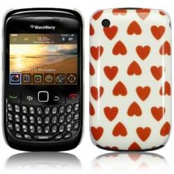 Coque avec motifs coeurs pour Blackberry 9300 Curve 3G