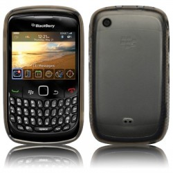 Coque cristal noire pour Blackberry 9300 Curve 3G