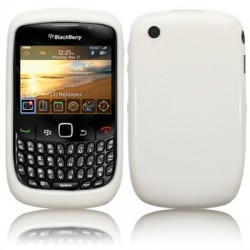 Coque gel blanche pour Blackberry 9300 Curve 3G