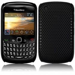 Coque perforée noire pour Blackberry 9300 Curve 3G