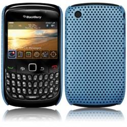 Coque perforée bleue pour Blackberry 9300 Curve 3G