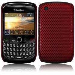 Coque perforée rouge pour Blackberry 9300 Curve 3G