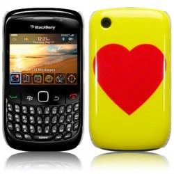 Coque rigide avec motif coeur pour Blackberry Curve 9300