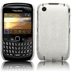 Coque arrière rigide finition argent pour Blackberry Curve 9300