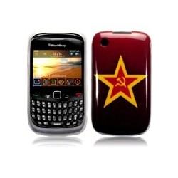 Coque rouge avec motif marteau et faucille Blackberry 9300