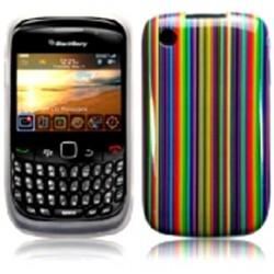 Coque avec rayures multicolores pour Blackberry 9300