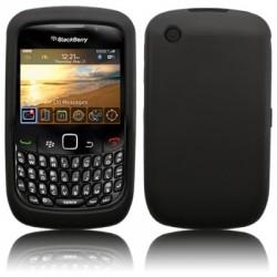Coque silicone noir mat pour Blackberry 9300