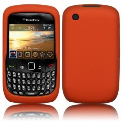 Coque silicone orange pour Blackberry 9300