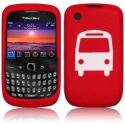 Coque silicone rouge autobus pour Blackberry 9300 Curve 3G