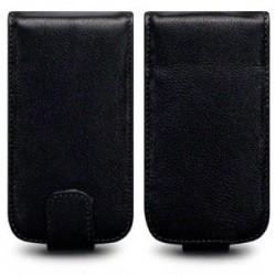 Etui en cuir noir pour Blackberry Torch 9860