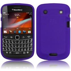 Coque en silicone pourpre pour Blackberry Bold 9900 et 9930