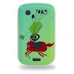 Coque avec cheval rouge abstrait pour Blackberry 9900