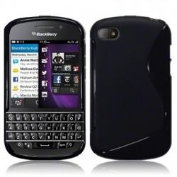 Coque noir piano pour Blackberry Q10