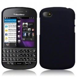 Coque noir mat rigide touché gomme pour Blackberry Q10
