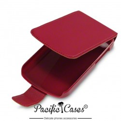 étui rouge ouverture clapet Pacific Cases pour BlackBerry Q10