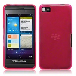 Coque rose translucide pour Blackberry Z10