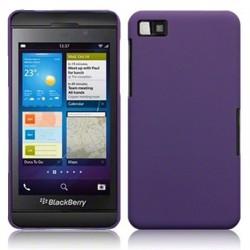 Coque pourpre mat touché gomme pour Blackberry Z10