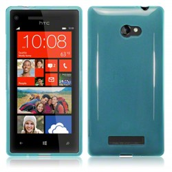 Coque bleu translucide pour HTC 8x Windows Phone