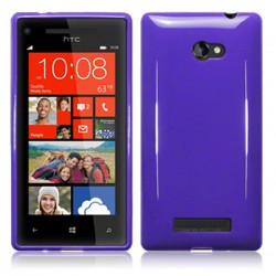 Coque violette souple pour HTC 8x Windows Phone