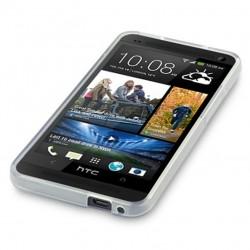 Coque transparente opaque pour HTC One M7