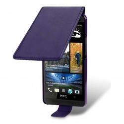 Etui pourpre à clapet pour HTC One M7