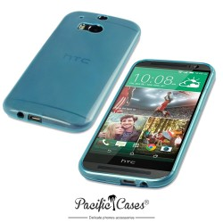 Coque bleu translucide pour HTC One M8 par Pacific Cases®