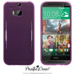 Coque pourpre translucide pour HTC One M8 par Pacific Cases®