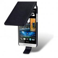 Etui noir à clapet pour HTC One mini