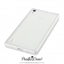 Coque transparente givre pour Huawei Ascend P7